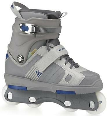 NEW Rollerblade Point 8 Grey Blue Aggressive Inline Skates