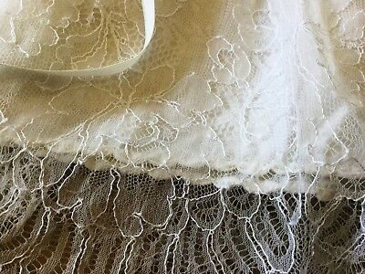 Circa 1950's/60's *Delightful Vintage Full Lace Handmade Baby Christening Gown