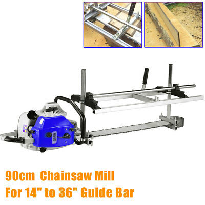 Portable Chainsaw Mill Attachment Planking Lumber From 14'' to 36'' Guide Bar