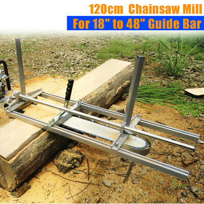 Portable Chainsaw Mill Attachment Planking Lumber From 18'' to 48'' Guide Bar