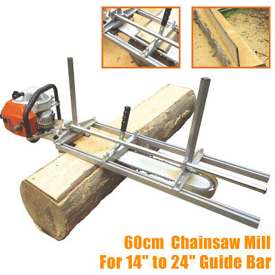 Portable Chainsaw Mill Attachment Planking Lumber From 14'' to 24'' Guide Bar