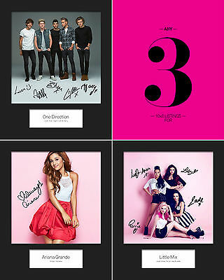 ** SPECIAL OFFER ** ANY THREE 10x8 SIGNED Mounted Photo Print - FREE DELIVERY