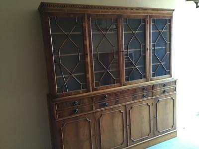 wohnwand mahagoni vitrine wohnzimmerschrank sekret r england b cherschrank eur 175 00. Black Bedroom Furniture Sets. Home Design Ideas