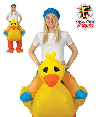 Adult Inflatable Duck Costume Funny Fancy Dress Hen Stag Night Ride On Outfit