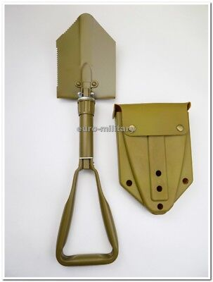 BW German Army Field Compact Folding Shovel w/ Plastic Case - Brand New- Coyote
