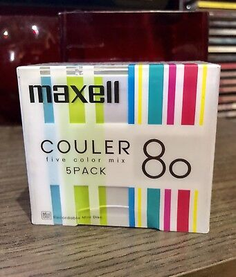 MINIDISC MD MINI DISC MAXELL COULER 80 -PACK NEW RARE JAPAN SEALED sony Es