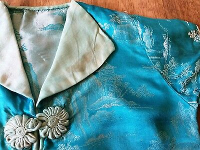 Vintage Children's Silk Jacket Top     1930's 1940's    Chinese Handmade
