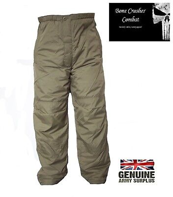 Genuine Issue British Army Thermal  OverTrousers - c/w Integral Stuff sack –NEW