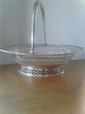Antique George Iii Solid Sterling Silver Good Quality Cake Basket London 1775