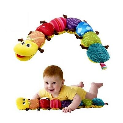 Cute Cartoon Animal Plush Doll Ring Bell Learning Educational Stuffed Baby Toy