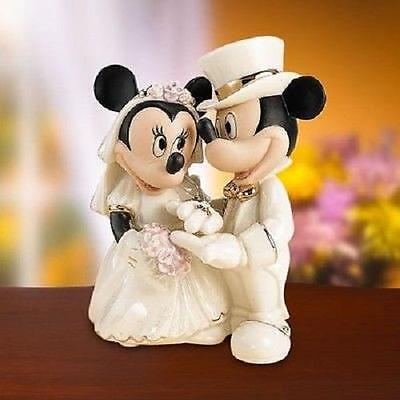 LENOX ~ Disney's MINNIE'S  Dream Wedding ~ Cake topper ~ MICKEY MOUSE NIB W COA