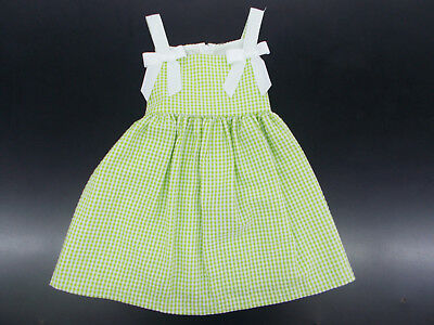 1f48c86f740 TODDLER GIRLS BONNIE Jean Green & White Checked Dress Size 2T - 4T ...