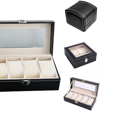 1/4/5/8/12Slots Leder Uhren Box Uhrenverpackung Etui Display Organizer Watch Box
