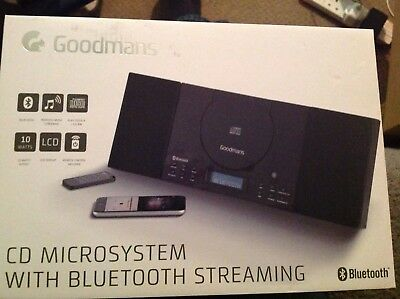 Goodmans Bluetooth CD Brilliant Microsystem with bluetooth streaming, New!!