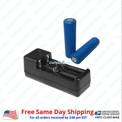 Flat Top 18650 Rechargeable Lithium Ion Batteries and Charger