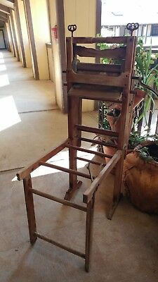 Antique Washing Machine Home Comfort Foldable Wooden Hand Washer - Austin Texas