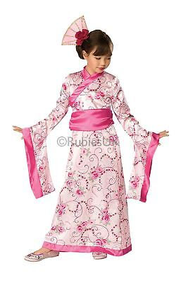 Girls Asian Princess Geisha Chinese Japanese Oriental Fancy Dress Costume Outfit