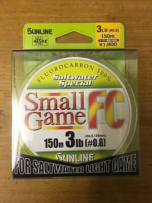 *REDUCED* Sunline Small Game FC 150m 3lb Fluorocarbon
