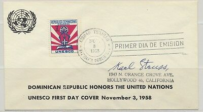 Dominican Republic Sc. 506 UNESCO Headquarters in Paris Opening on 1958 FDC
