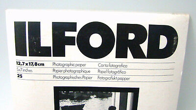 Ilford Photographic Paper 5 x 7 In. Multigrade RC Rapid MgR Pearl 25 Sheets