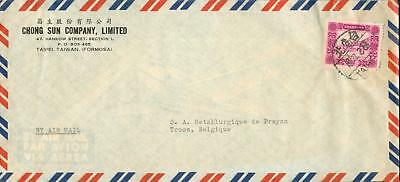 China Taiwan Michel Nr. 187 airmail cover Belgium he91
