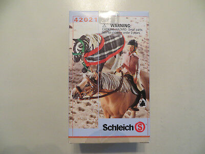 Schleich  Item# 42021 Girl Female Rider With Horse Tack Accessory Set