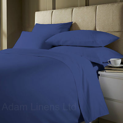 Plain Dyed Mid Blue Duvet Cover Set Single,Double,King With Pillow Cases