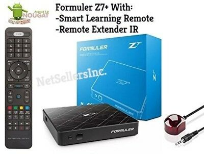 Formuler z7+ NOUGAT 7 WIFI With Smart Learning Remote and Remote Extender IR