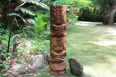 "Premium Hawaiian Tiki Totem Pole 48"" - Outdoor 