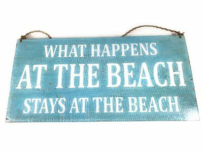"""/""""I Love You To The Moon And back/"""" Beach Sign on Wood 16/"""" X 8/""""#nik3226"""