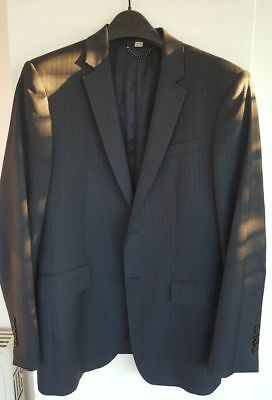 Burberry wool pinstripes blazer jacket suit 48