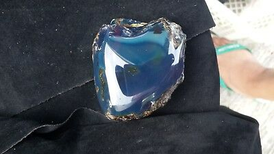 80 gr Rough polished Indonesian Blue Amber 68x61x43 mm