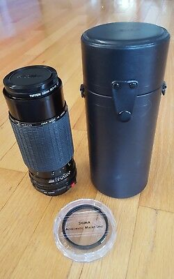 Sigma High Speed Zoom Camera Lens 80-200mm F/3.5-4 with macro filter and case