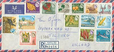 Rhodesia Michel Nr. 24-37 complete set on cover hl16