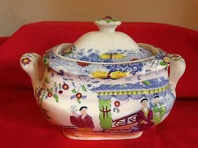 Small Georgian period Chinoiserie design porcelain tureen
