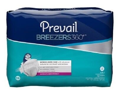 Prevail Breezers360 Brief, SIZE 2 Heavy Absorbency, PVBNG-013 - Case of 72