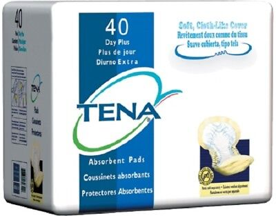 TENA Day Plus Pads, Heavy Absorbency, Yellow, Pant Liners, 62618 - Pack of 40