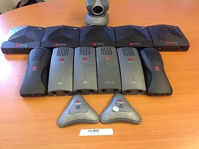 UNTESTED Genuine POLYCOM 2*Micpod Pad/ 2*SoundStation2/ 3*VTX/ 5*SoundStation 2W
