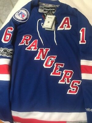 1aa4952b4 New Rick Nash Blue Home New York Rangers with 90th Anniversary 100th NHL  Patch