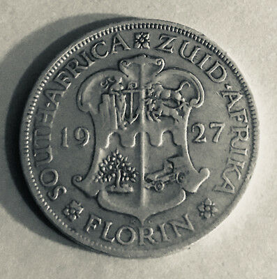 1927 South African Florin 80% Silver