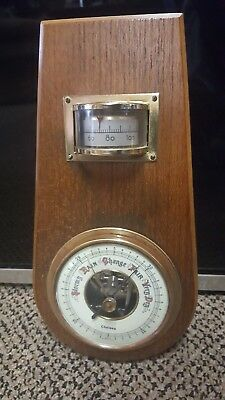 Vintage Wooden/brass 'chelsea' Barometer/hygro - West Germany