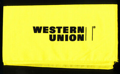 WESTERN UNION Promo Scarf / Bandana YELLOW + BLACK Never Used: MINT CONDITION