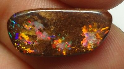 Lapidary: 3.05 carat natural, small polished solid boulder opal from Koroit QLD