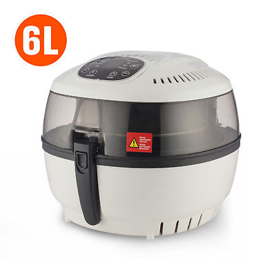 New 1500W Oilless Electric Air Fryer Healthy Low-Fat Multi-Cooker Digital White