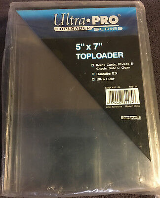 Ultra Pro 5x7 Sports/Postcard,Picture Toploaders 25 ct pack!!!