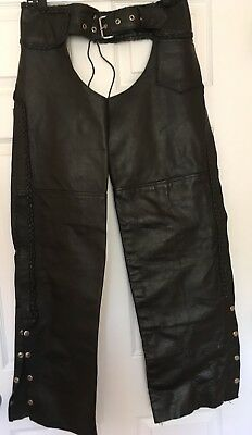Hot Leathers Motorcycle Biker Chaps Size S