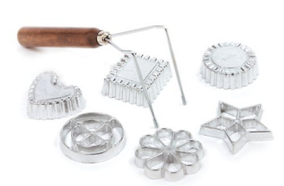Rosette Timbale Set Aluminum Molds 7 Pcs Cookie Mold Baking Accessories Tools