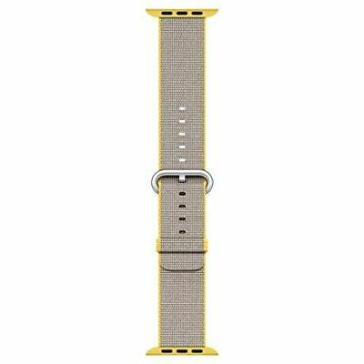 Apple Watch Woven Nylon Band (38mm, Yellow/Light Gray) MNK72AM/A