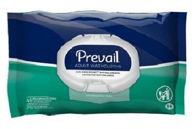 ADULT Prevail Disposable Bath Washcloths Moist Wipes Pack of 96 WW-901