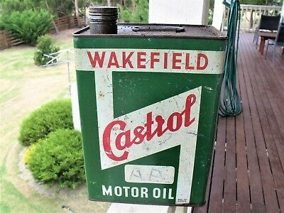 WAKEFIELD CASTROL MOTOR OIL.  ONE GALLON TIN. Very good condition.